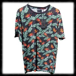 WESTY Hawaiian Tropical  T Shirt With Pocket